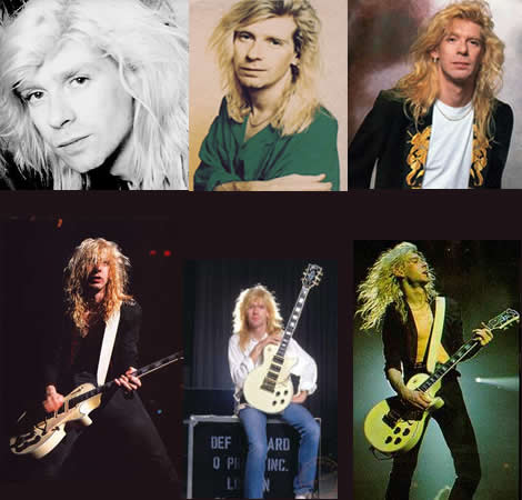 Cool Collage of Def Leppard's Steve Clark