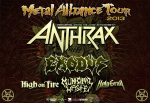 ANTHRAX Metal Alliance Tour 2013