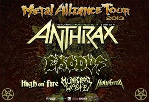 ANTHRAX Metal Alliance Tour 2013