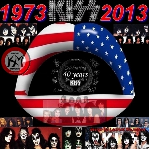 KISS 40 YEARS collage