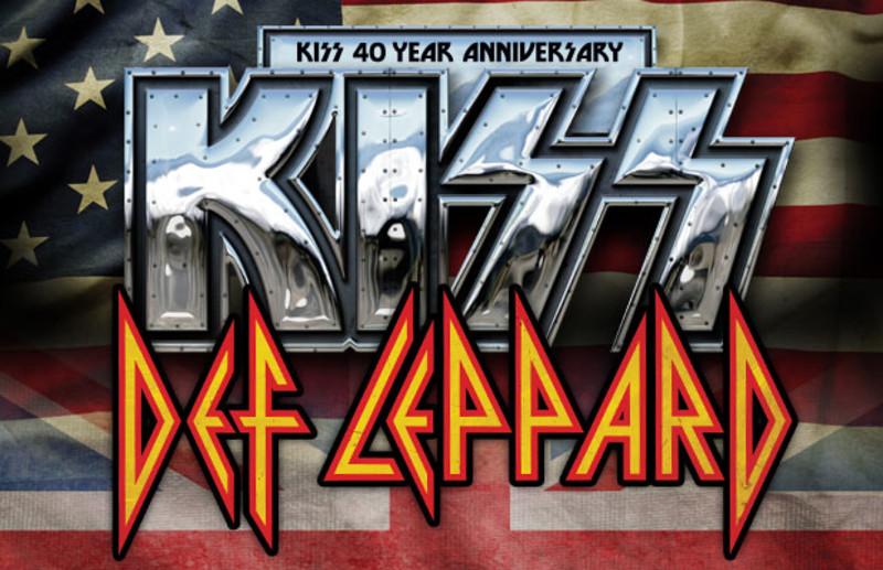 KISS DEF LEPPARD TOUR 2014 Poster